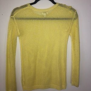 Yellow fish net sweater